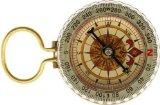 SE Glow-in-the-Dark Brass Compass