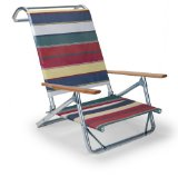 Telescope Casual Original Mini-Sun Chaise Folding Beach Arm Chair, Spencer