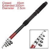 200cm Portable Telescope Fishing Rod Fish Pole 6 Sections